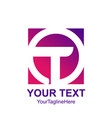 initial letter t logo template colorful circle vector image
