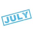 July Rubber Stamp vector image vector image