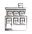 monochrome blurred silhouette house of two floors vector image vector image