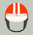 motorcycle helmet flat style vector image vector image