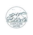 Mountains exploration card vector image vector image