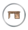 Office desk icon in cartoon style isolated on vector image vector image