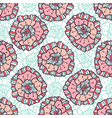 ornamental floral pattern boho background for vector image vector image