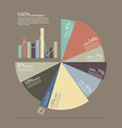 Pie chart and bar chart for documents and reports vector image vector image