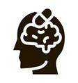 pills drugs man silhouette headache glyph icon vector image vector image