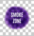 purple smoke for use on light background vector image