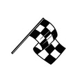 racing flag with chess pattern design element for vector image