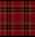 red black and brown tartan plaid scottish pattern vector image vector image