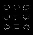 set line icons of speech bubble vector image vector image