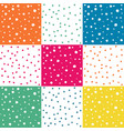 set of seamless colorful dots pattern vector image vector image