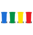 Set of trash bins flat design vector image vector image