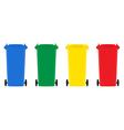 set trash bins flat design vector image
