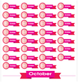 signs number for October vector image