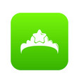 small princess crown icon green vector image vector image
