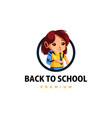 student back to school thumb up mascot character vector image vector image