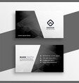 stylish black and white business card design vector image vector image