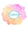 summer round shape doodle frame made of abstract vector image vector image