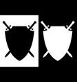 sword and shield icon vector image vector image