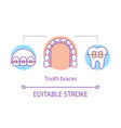 tooth braces concept icon vector image vector image