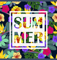 tropical summer pattern vector image