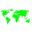 world map world icon vector image
