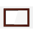 Wooden Photoframe vector image