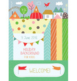 Holidays background for kids for birthday or vector image