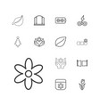 13 ornament icons vector image vector image