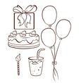 A simple drawing of a birthday celebration vector image vector image
