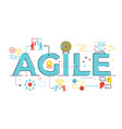 agile word lettering vector image vector image