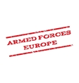 Armed Forces Europe Watermark Stamp vector image vector image