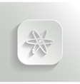 Atom icon - white app button vector image vector image