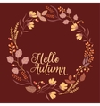 Autumn Floral Frame Collection Cute set with vector image vector image