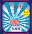 banner for the Bakery Cafe with cake vector image vector image