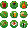 barbeque buttons vector image vector image