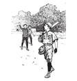 baseball uniform vintage vector image vector image