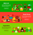 bbq grill web banners vector image