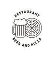 beer and pizza restaurant menu vector image