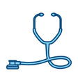 blue line medical stethoscope to check cardiac vector image vector image