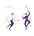 business characters angel and demon arguing