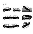 Car crash set Insurance cases car crash vector image
