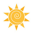 cartoon sun weather sky flat icon vector image vector image