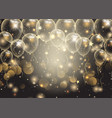 celebrations background with gold balloons vector image vector image