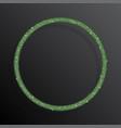 circle frame green sequins glitter sparkle dot vector image