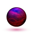 colorful crystal ball vector image