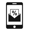 conversion rate smartphone icon simple style vector image vector image