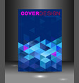 cover template with blue triangle geometry vector image vector image