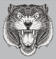 Detailed Hand Drawn Abstract Tiger vector image vector image