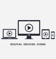 device icons - smart phone tablet laptop and vector image