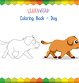 Dog coloring book educational game vector image vector image